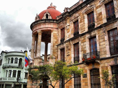 51 BEST NATIONAL PARKS OF ECUADOR [AND NATURE RESERVES]:  THINGS TO DO IN ECUADOR: City Hall Gallery of Cuenca, Old Town Cuenca.