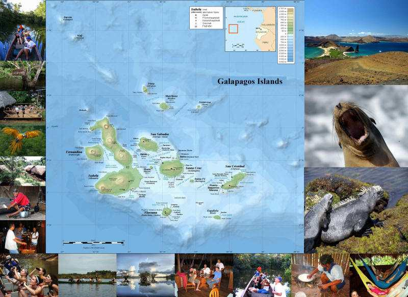 COMMENT VISITER LES ÎLES GALAPAGOS: Carte des Iles Galapagos